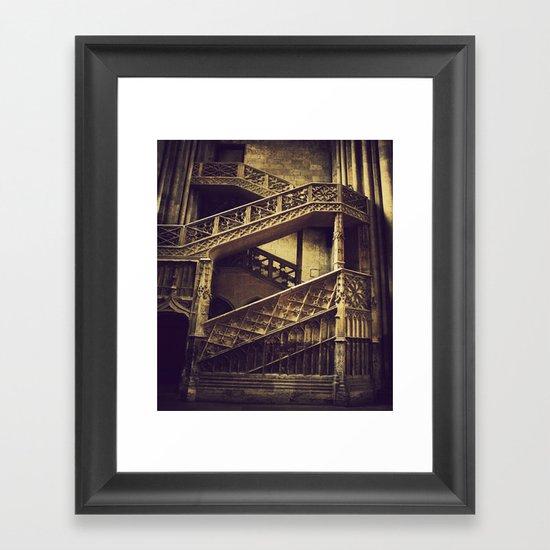 A Hogwarts Staircase Framed Art Print