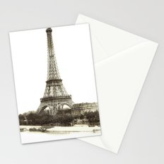Vintage Eiffel Tower French Post Card Stationery Cards
