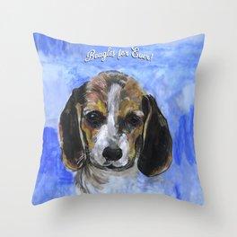 Beagles For Ever Throw Pillow