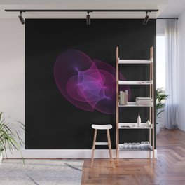 Purple Blue minimal harmonic geometry nebula psychedelic Wall Mural