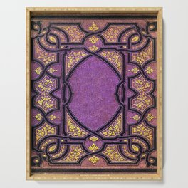 Purple and Gold Vines Book Serving Tray