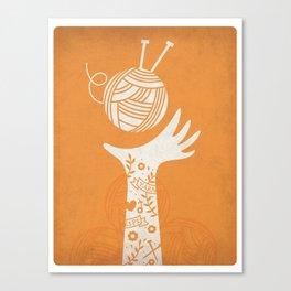 Yarn Love - Orange Canvas Print
