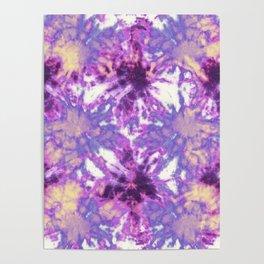 Tie-Dye Linen Bloom Poster