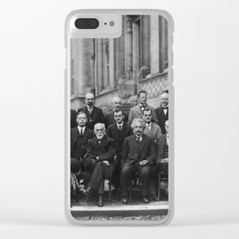 1927 Solvay Conference on Quantum Mechanics Clear iPhone Case