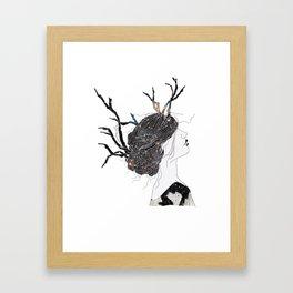 Reindeer in space  Framed Art Print