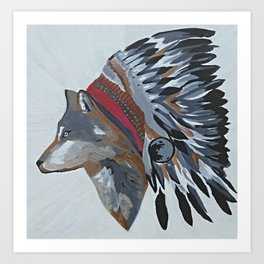 Leader of the pack -Wolf Chief -  Art Print