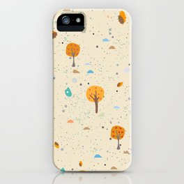 Fall Pattern iPhone Case