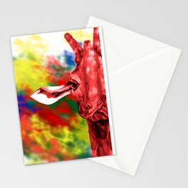 Oblivious Giraffe Stationery Cards