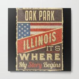 Oak Park Illinois Metal Print