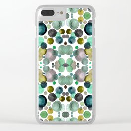 Watercolor circles Clear iPhone Case