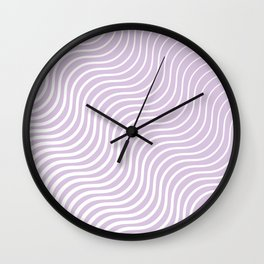Whiskers Light Purple & White #713 Wall Clock