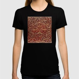 Golden Swirled Red Book Cover T-shirt