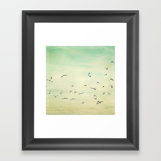Graceful Flock Framed Art Print