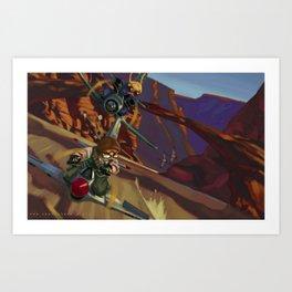 Airbike Dogfight Art Print