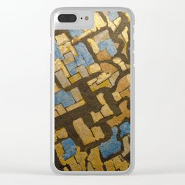 Gold cubic Eiffel tower close up Clear iPhone Case