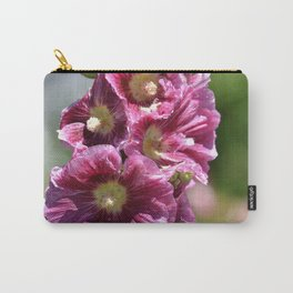 Hollyhock Flowers Carry-All Pouch
