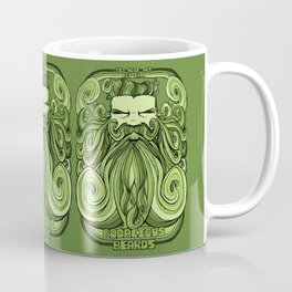 Bodacious Beard - Green Coffee Mug