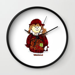 Strawgirl jGibney The MUSEUM Society6 Gifts Wall Clock