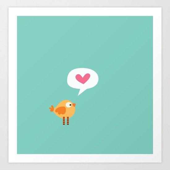 Love Birdie Art Print
