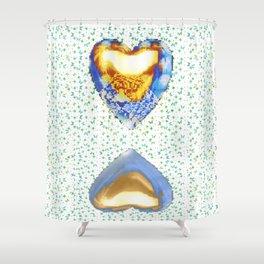 Tiger Heart Digital Collage Shower Curtain