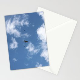 Song Birds Fighting off a Red Tailed Hawk Stationery Cards