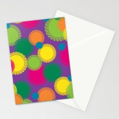 Spikey Circles Purple Stationery Cards