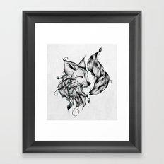 Fox B&W  Framed Art Print