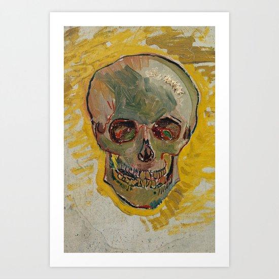 Vincent Van Gogh Skull Painting by vintageartstore