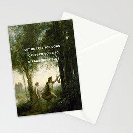 Orpheus Leading Eurydice to Strawberry Fields Stationery Cards