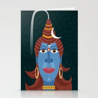 transformer Stationery Cards featuring Lord Shiva - Transformer or Destroyer by quackdesigns