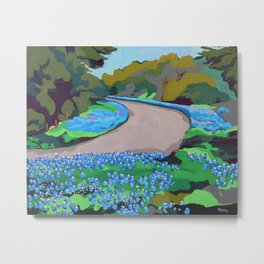 Bluebonnet Road Metal Print