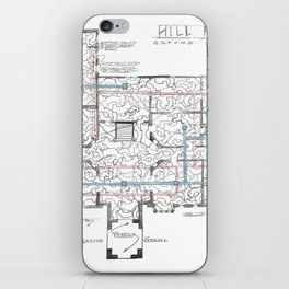 Haunting of Hill House Blueprint iPhone Skin