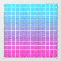 gradient Canvas Prints featuring Gradient by aesthetically