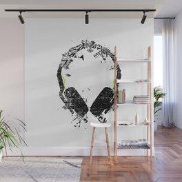 Art Headphones Wall Mural