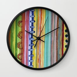 Striped Curtain Wall Clock