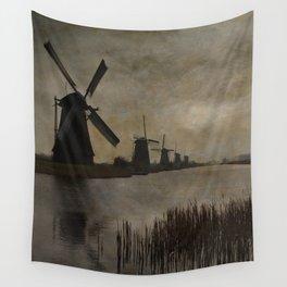 Windmills at Kinderdijk Holland Wall Tapestry