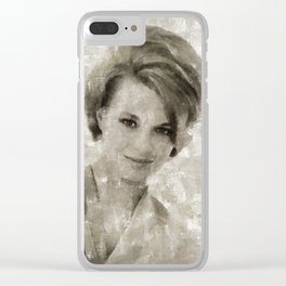Angie Dickinson by Mary Bassett Clear iPhone Case