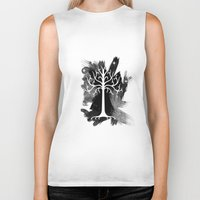 gondor Biker Tanks featuring White Tree Of Gondor by Icarusdie