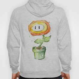 Fireflower Watercolor Painting Hoody