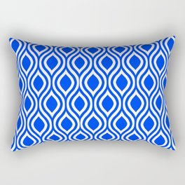 Blue Modern Classic Seamless Pattern Rectangular Pillow