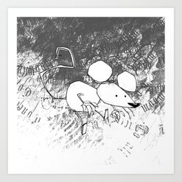 minima - deco mouse Art Print