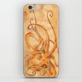 Octopus Drinking Tea iPhone Skin