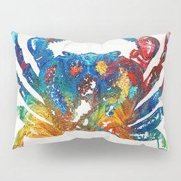 Colorful Crab Art by Sharon Cummings Pillow Sham