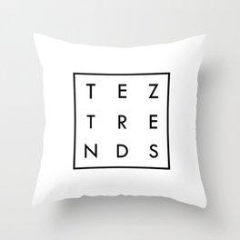 Tez Trends Logo Collection Throw Pillow