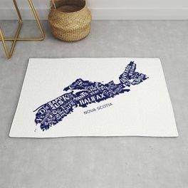 Nova Scotia Map Rug