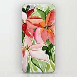 Pink Poinsettias iPhone Skin