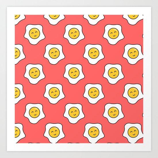 Happy Eggy Art Print