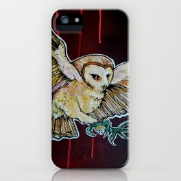 L'il Lard Butt - the Yellow Snowy Owl iPhone Case