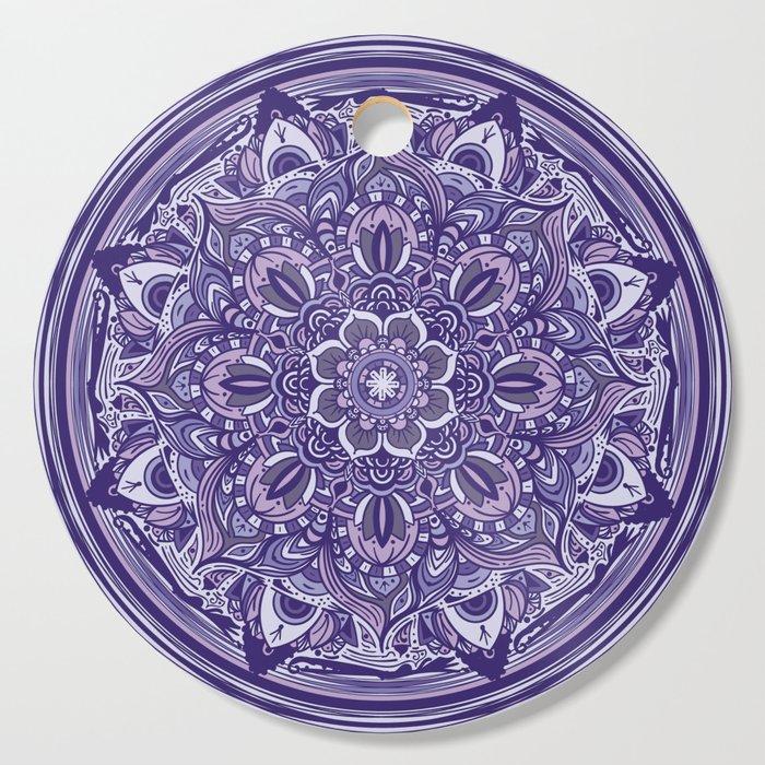 Great Purple Mandala Cutting Board