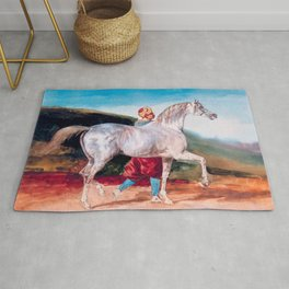 "Follower of Théodore Géricault ""Arabian Gray Led By An Arab"" Rug"